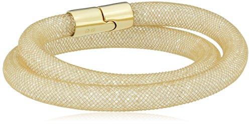 Swarovski Damen-Armband Edelstahl Kunststoff Glas beige 38 cm - 5102549