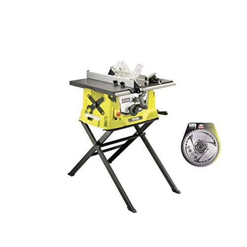 Pack sierra eléctrica de mesa RYOBI 1800W 254mm base retráctil RTS1800S - hoja de carburo para escuadradoras 254mm SB2