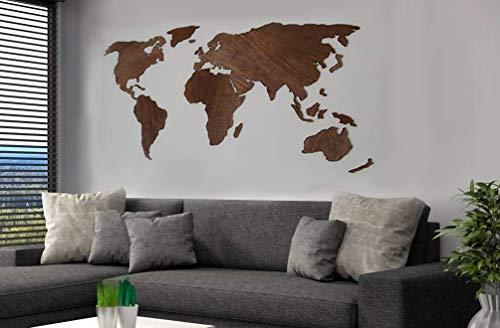 Art Wall Decor Weltkarte aus Holz