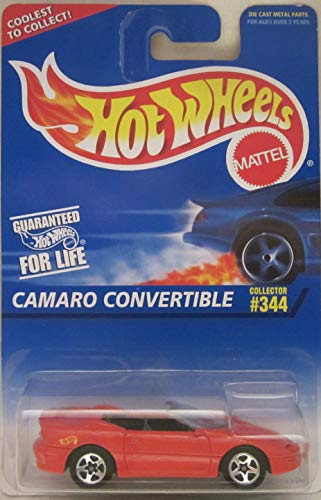 Hot Wheels Camaro Convertible [Red} #344 Die Cast Car on Coolest to Collect Card