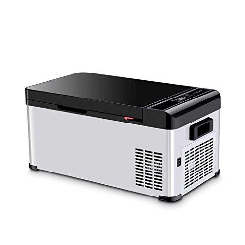 QIHANGCHEPIN DC 12V / 24V / 220V18L Portable Mute Design Dual-Core Mini Refrigerador Automático Camión Refrigerador del Hogar Refrigerador del Coche del Recorrido
