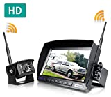 ZEROXCLUB Digital Wireless Backup Camera System Kit,No Interference,IP69 Waterproof Wireless Rear View Camera...