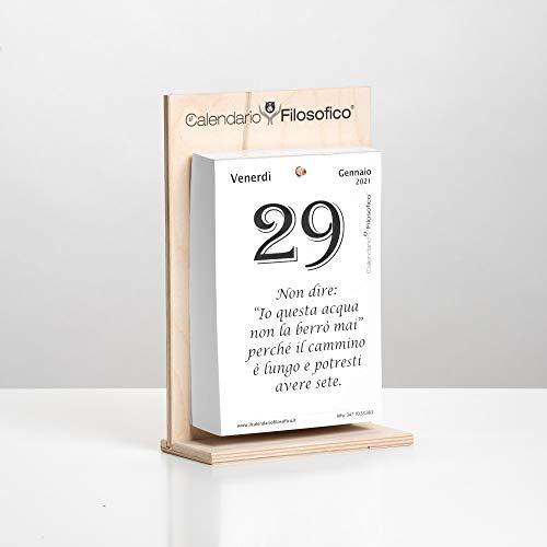 Il Calendario Filosofico 2021 – L'originale – con supporto in legno