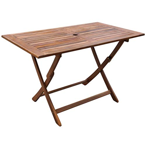 Qazxsw Mesa de Comedor al Aire Libre Mesas de café de Madera de Acacia para jardín y Patio