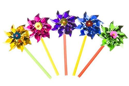 Schnooridoo 10 Bunte Windräder Spielzeug Garten Deko Mitgebsel Kindergeburtstag