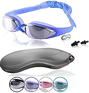 Swim Goggles | Swimming Goggles For Men Women Adults – Best Non Leaking Anti-Fog UV..