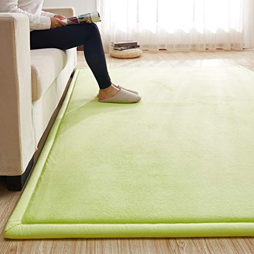 %41 OFF! Area Rug Thick Solid Color, Large Baby Play Mat Not-Slip Memory Foam Carpet Reversible Tata...