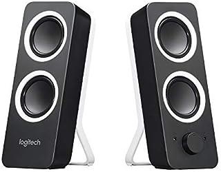 Logitech Z200 PC Speakers, Stereo Sound, 10 Watts Peak Power, 2 x 3.5mm Inputs, Headphone Jack, Adjustable Bass, Volume Co...
