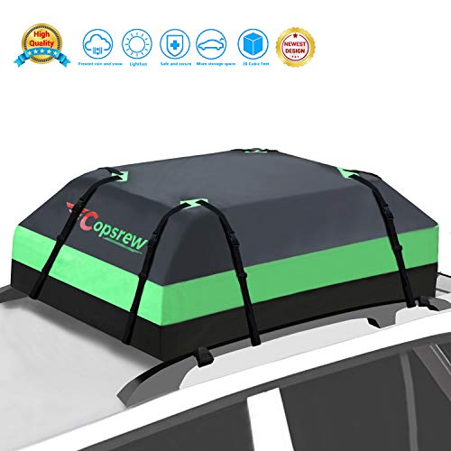 Copsrew 20 Cubic ft Car Roof Bag Top Carrier Cargo Storage Rooftop Luggage