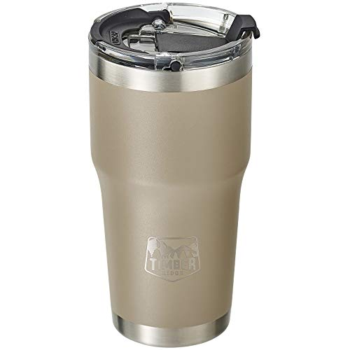 Dishwasher Safe Stainless Steel with Easy-Open Lid Double Wall Vacuum TIMBER RIDGE 20 oz Coffee Mug Insulated Tumbler Black