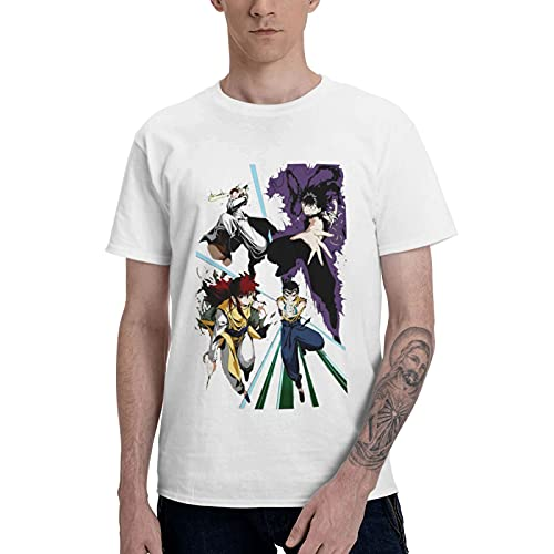 Yu_Yu-Haku-sho - Camiseta de manga corta para hombre, impresión 3D, diseño casual
