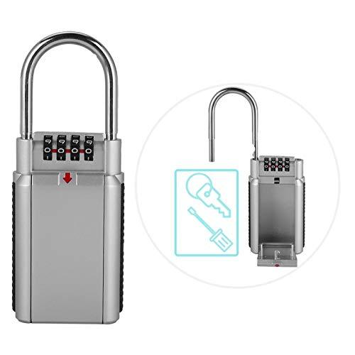 Rosvola Candado de contraseña de Metal, combinación de Llave Caja de Seguridad de Almacenamiento Caja de Seguridad Caja de Seguridad