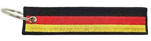 Germany Flagge Schlüsselanhänger, 100% bestickt