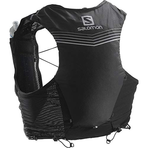 Salomon Advanced Skin 5 Set Unisex Trail Running Vest Backpack, Black, Medium