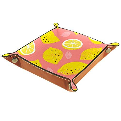 MUMIMI Caja de almacenamiento de joyería para anillos, pendientes, joyería y anillos, diseño de limón