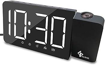 Antomove Gloue Projection Digital Display Alarm Clock