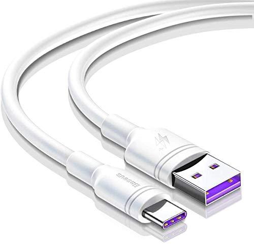AICase 5A Cable USB C Carga Rápida Cargador USB Tipo C para Huawei P20 Mate 9, MacBook, iPad Pro 2018, Galaxy S9/S8 y más (1M)