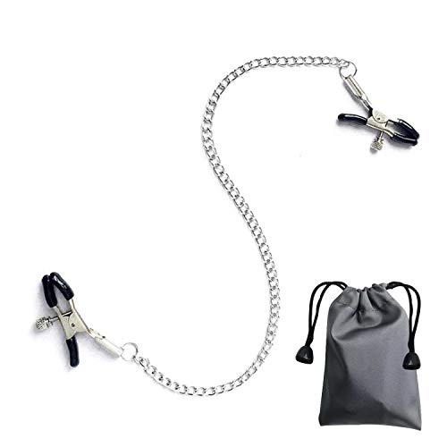 Body Chain with Adjustable Clip,Women Necklace Entertainment Chain Clamp Clothing Accessories with Storage Bag