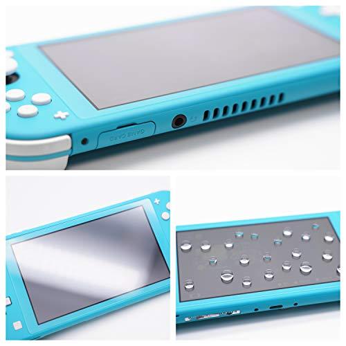 Camkix Griffschutz-Kit, kompatibel mit Nintendo Switch Lite - 1x TPU-Gehäuse (Transparent Schwarz), 6x Daumen-Griffkappen, Bildschirmschutz, Reinigungstuch - Griff, kratzfest, komfortabel