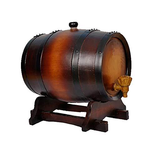 QSJY Oak Timber Wine Barrel, Mini Barrel with Bourbon, Seal the Barrels for Perfect Centerpiece (Color : Antique color, Size : 20 liters)