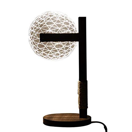 WWL Ball aufrecht Tischlampe Acryl Material führte Moderne Persönlichkeit 3D Schlafzimmerdekoration USB-warmes weißes Licht Augenschutz Knopfart Dimmbare 16,4 * 34.2cm liuchang21