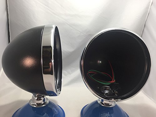 """Pair (2) Dietz 7"""" Black Head Light Buckets Wired Assembly Bullet"""
