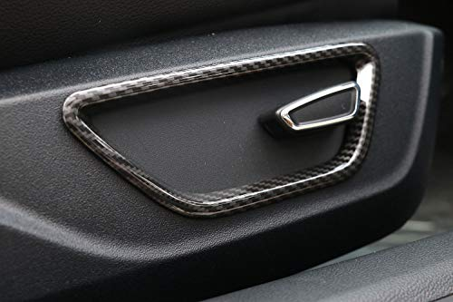 Garniture de Cadre de réglage de siège latéral en ABS de Style Fibre de Carbone pour Mustang 2015-2018