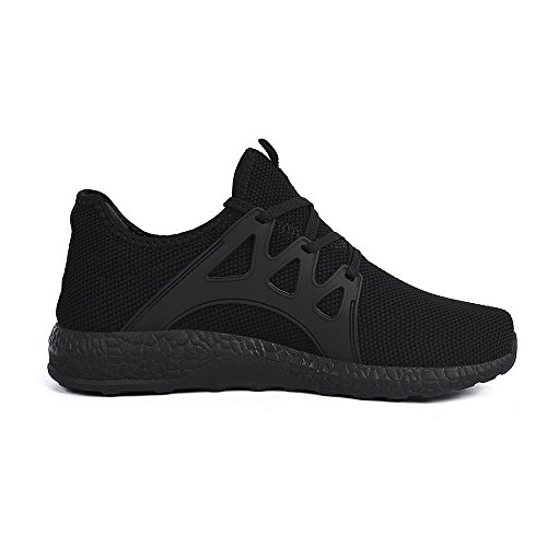 Feetmat Womens All Black Sneakers Ultra Lightweight...