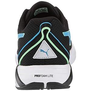 PUMA mens Minima Cross Trainer, Puma Black-elektro Green-nrgy Blue, 11 US
