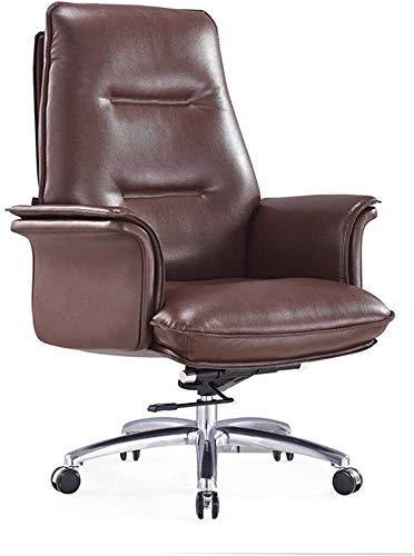 FTFTO - Sedia da ufficio per uso quotidiano, regolabile, con rotelle, sedia da ufficio reclinabile e girevole, in pelle