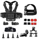 Anyingkai 15pcs Action Kamera Halterung,Brustgurt Halterung Handy,Action Kamera Zubehör Set,Action Kamera Zubehör Kit,Brustgurt Halterung