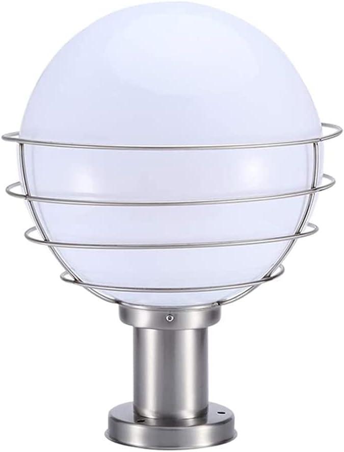 NARUJUBU Outdoor online shop Max 89% OFF Waterproof Ball E27 Rou Post Simple Modern Lamp