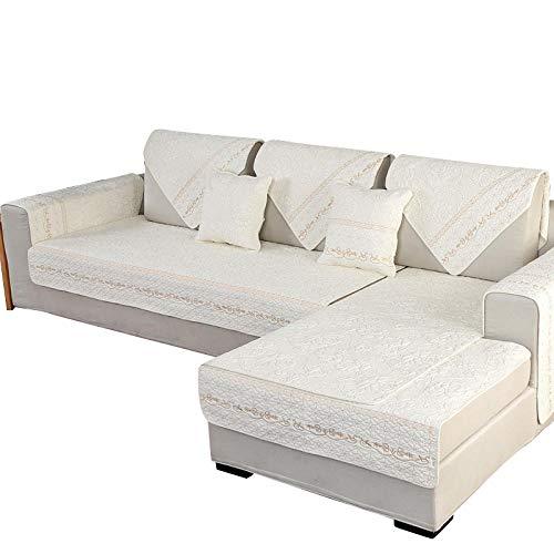 CC.Stars Funda elástica para sofá,Funda de sofá de algodón elástico, Funda de sofá con Todo Incluido y Envoltura Ajustada para Sala de Estar, Funda de sofá seccional-Gold_70x120cm
