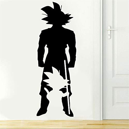 Dragon Ball Wandtattoo Dragon Ball, Dbz Anime Wandkunst Aufkleber Manga Dragon Ball Z Goku Silhouette Aufkleber Wand Vinyl Aufkleber für Teen Schlafsaal Schlafzimmer