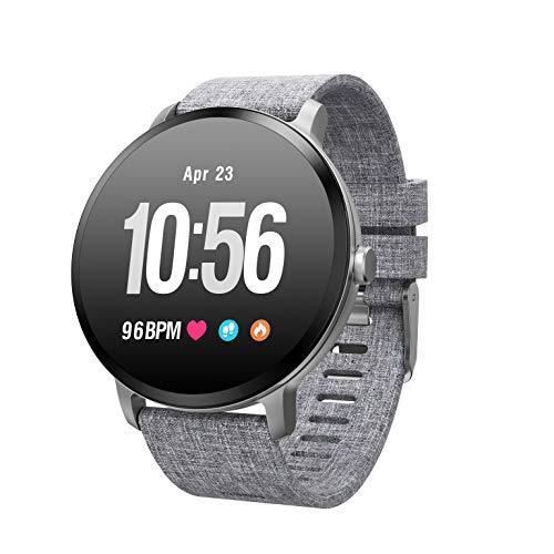 YANGLIUYL Bluetooth Elektronische Uhr,Wasserdicht Elektronische Uhr,GPS Elektronische Uhr,Herzfrequenz Und Blutdrucküberwachung Sport Laufen Kalorien Verbrannt Grau