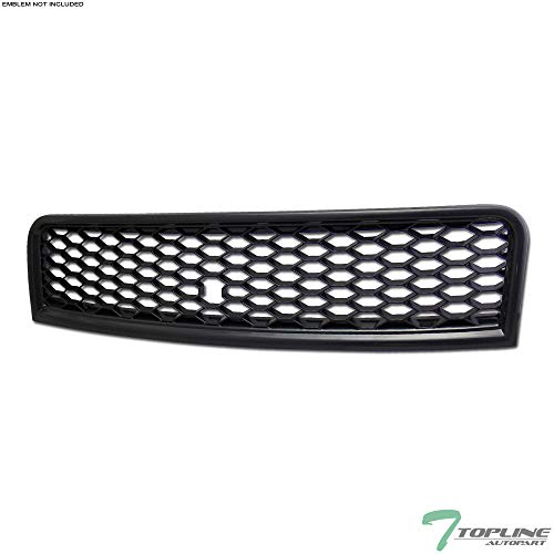 Topline Autopart Black RS-Honeycomb Mesh Front Hood Bumper Grill Grille ABS For 02-05 Audi A4 / 04-05 S4 B6