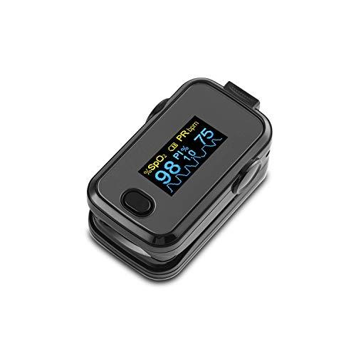 Saturimetro da dito V7, Pulsossimetro, Display OLED, frequenza polso(PR) e saturazione di Ossigeno(Spo2) . Indice di perfusione. Dispositivo medico registrato