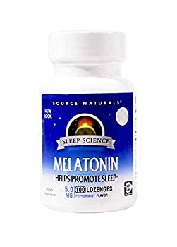 Melatonin 5mg Sublingual-Peppermint Source Naturals Inc 100 Lozenge