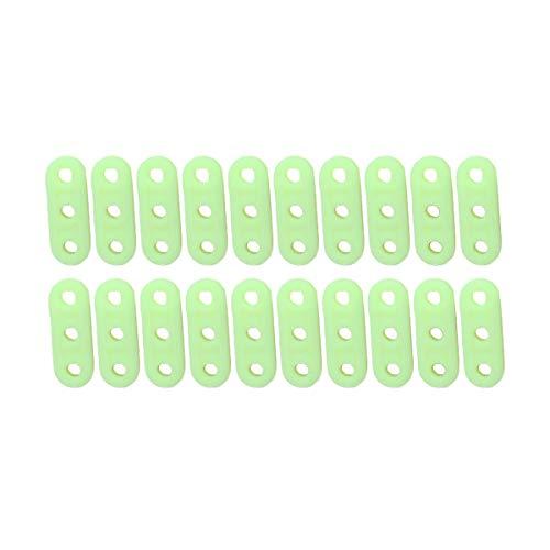 Jiele 20 piezas luminosas de 3 agujeros para tienda de campaña, tensor de cuerda tipo tensor para tiendas de campaña, senderismo, camping