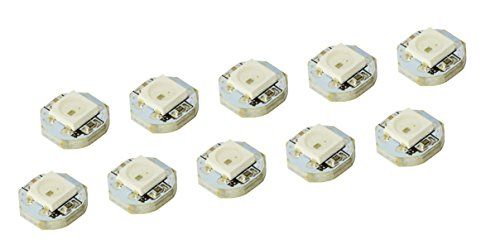 10pcs 1bit Mini WS2812B WS2811 IC 10 mm * 3 mm DC5 V SMD 5050 RGB LED Light Sample para Arduino Raspberry Pi FPV drones