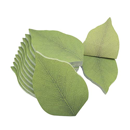 """600 Sheets Cute Tree Leaf Sticky Notes/Paper Memo Self-Adhesive Notes, 3.74"""" x 2.48"""" 12 Pads/Pack, 50 Sheets/Pad (A)"""