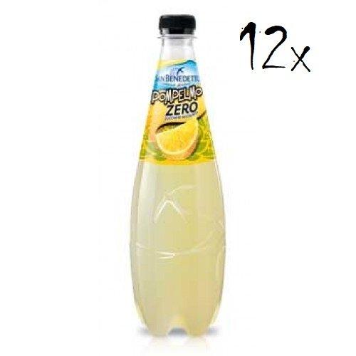 12x San Benedetto Pompelmo zero PET Flasche ohne zucker 75cl Grapefruit limonade