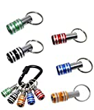Drill Bit Holder - Portable Keychain, 1/4inch Hex Shank Aluminum Alloy Screwdriver Bits Holder, 2 in 1 Extension Bar Screw Drill Holder and Keychain Tool, Funny and Practical Gadgets (5 Colors)