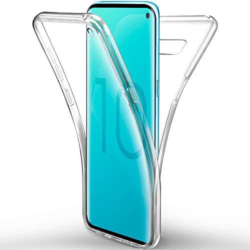 AROYI Coque silicone de protection pare-chocs à 360 degrés pour Samsung Galaxy S10E et S10 Lite Transparent