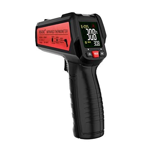 ZJXYYYzj Termómetro láser Digital portáti,Termómetro Infrarrojo -50 ° C ~ 580° C,para Industrial HVAC Horno Fragua para Cocinar