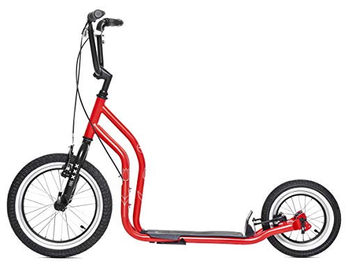 City New Amsterdam Scooter Tretroller Yedoo 16/12 Zoll V-Brake Limited Edition rot