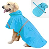 ☂[Creative Fashion Decoration]: Our dog raincoat can meet all your fashion needs while maintaining the best features. Dog raincoat poncho has a gorgeous and beautiful appearance. Let your pet dog be very eye-catching no matter whether it is outdoors ...