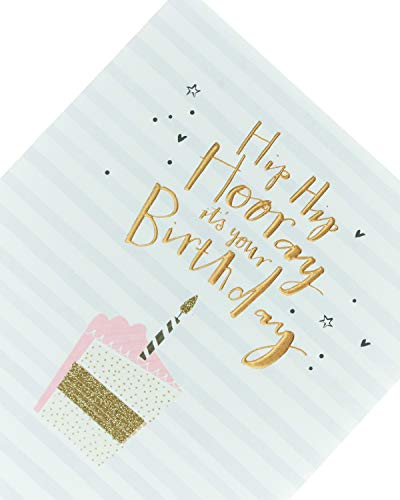 UK Greetings Card for Her - Friend Card - Featuring Cake Design