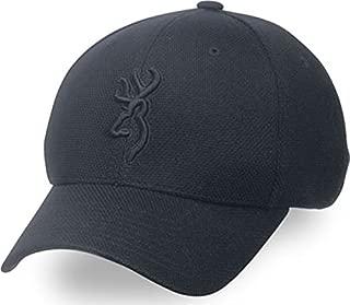 Coronado Pique Buckmark Cap, Black, Large/X-Large
