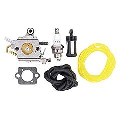 Replace part number: Zama 805a, 1137-120-0606, 11371200606, 1137 120 0606. Fits: Stihl MS193T, MS193, MS 193 T. Package includes: 1 carburetor + 1 gasket + 1 spark plug + 1 fuel filter + 2 pcs fuel line.